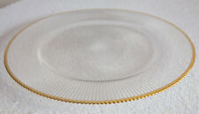 GOLD RIMMED GLASS CHARGER PLATE XMAS EVENTS WEDDINGS 32CM DIAMETER