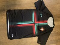 NIKE Portugal Squad Training Soccer Futbol Jersey World Cup 2018 Black S