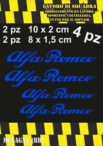 KIT 4 ADESIVI ALFA ROMEO sticker PINZE FRENO MITO 147 159 GIULIA STELVIO BLU
