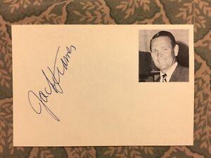 Jack Kramer - International Tennis HOF - Wimbledon Winner 1947 -Autographed 1966