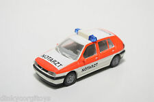 WIKING VW VOLKSWAGEN GOLF MKIII MK3 NOTARZT WHITE ORANGE NEAR MINT CONDITION