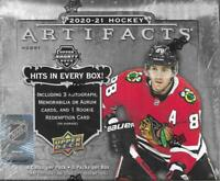 2020-21 Upper Deck Hockey Artifacts Hobby Box Sealed - 8 Packs / box LAFRENIERE?