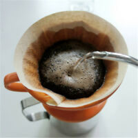 40Pcs Hand-Drip Coffee Filter Papers Coffee Filtering Pure Natural Wooden Paper>