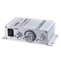 12V LP-A6 Hi-Fi Audio Stereo Amplifier Output AMP Car Home FM Radio MP3 MIC Mini