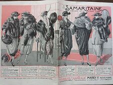 "CATALOGUE MODE "" A LA SAMARITAINE "" FOURRURES ET MANTEAUX 1919"