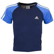 adidas Kids 3SA Crew Tee Size 22/24 Deeproyal/Pool RRP £17 BNWT