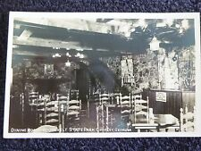 1940's Rppc The Dining Room,Roosevelt State Park in Chipley, Ga Georgia Pc Cline