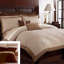Nautica Southgate Herringbone Brown Tan Feather ~ Throw Pillow ~ New