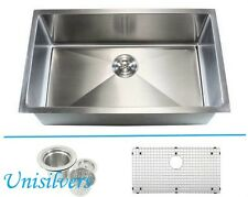 "36"" 15mm (1/2"") Radius Square Corner Stainless Steel Kitchen Sink"