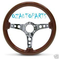 SAAS SPORTS WOODGRAIN STEERING WHEEL HOLDEN/FORD/NISSAN