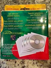 Compucessory Self Adhesive CD/DVD Sleeve, Holds 1 Disk - 50 pack
