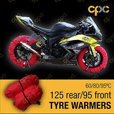 Red Motorbike TYRE WARMERS set motor bike race track motorcycle TIRE WARMER D3