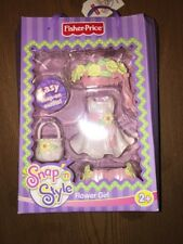 Fisher Price Snap N Style Flower Girl Doll Fun Dress Clothes Outfit