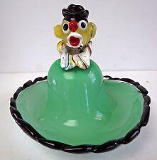 Murano Art Glass Seguso Clown Ring Or Jewelry Dish
