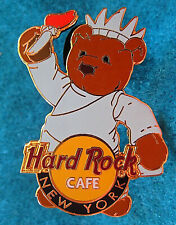 NEW YORK CITY MISS LIBERTY WITH TORCH HERRINGTON CITY BEAR Hard Rock Cafe PIN LE