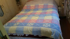 """TABLE COVER OR THROW-Pale Colour-Square Pattern-71"""" X 66"""""""