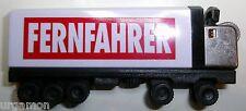 TOKAI Feuerzeug FERNFAHRER Magazin als Sattelzug weiß-schwarz, ca. 2000