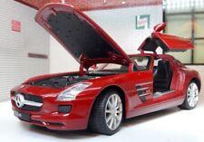 G 1:24 Scala MERCEDES GABBIANO ALA V8 SLS AMG Welly ROSSO AUTOMODELLO METALLO