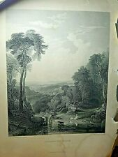 Antique J.M.W.Turner Engraving Crossing the Brook  11x15 ""