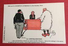 CPA. Illustrateur O'GALOP. La Contravention. Automobile. Humour. Juge. Kossuth.