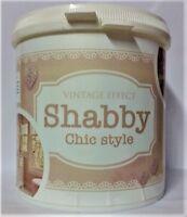 PITTURA SMALTO VERNICE BIANCO SHABBY CHIC STILE EFFETTO GESSO PER MOBILI 750 ml.