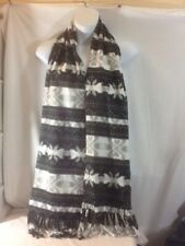 Cute Woman's OLD NAVY Black Gray & White Snowflake Warm Winter Neck Scarf