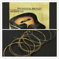 KIT di Fender 6 (.011-.050) Corde Bronze per Chitarra Classica Acustica 60XL