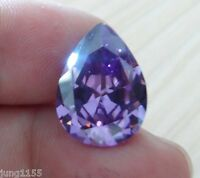 13x18mm 18.12ct Pear Shape Faceted Cut VVS Loose Gem AAA Natural Purple Amethyst