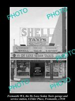 OLD HISTORIC PHOTO OF FREMANTLE WA, THE DELUXE SHELL OIL Co PETROL STATION c1930
