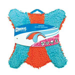 New Chuckit!-Indoor Flying Squirrel Safe Durable Plush Fetch Dog Puppy Toy
