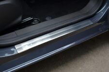 Chrome Door Sill Trim Covers Scuff Protectors Set To Fit Ford Focus (2005-11)