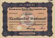 Chemische Fabrik Helfenberg 1928 Eugen Dieterich Dresden Urbach Coswig 200 RM