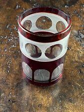 ANTIKES BIEDERMEIER GLAS BÖHMISCHES GLAS UM 1850
