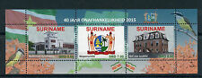 Suriname 2015 MNH Independence 40 Years 3v M/S Coat of Arms Onafhankelijkheid