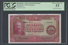 Mozambique 100 Escudos 27-3-1941 P77s Specimen About Uncirculated