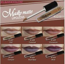 6 PCs Kleancolor Madly Matte Lipgloss Bold Vivid Brown Beige Natural Gloss 1815