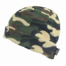 New Mens Camo Thermal Thinsulate Fleece Lined Beanie Ski Hat Army Green