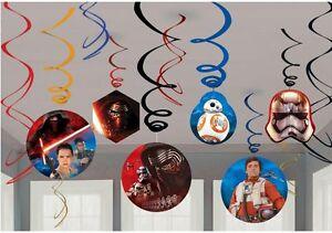 Star Wars Episode VII The Force Awaken Birthday Swirl Ceiling Hanging Decoration