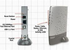 D-Link DCM-202 DOCSIS 2.0 USB/Ethernet Cable Modem