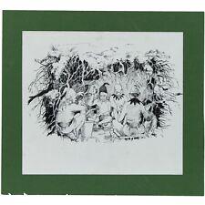 ORIGINALE ANNI'60 RCA PENNA INCHIOSTRO LIBRO illustrazione Elves e il calzolaio Grimm Tales