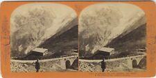 L'Ortler et son Glacier Tyrol Italie Photo Stereo VintageAlbumine