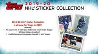 2019-20 Topps NHL Hockey Album Stickers Base or Foil Pick From List 401-630