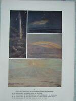 1903 Astronomía Estampado View Of Saturn De Diferente Puntos