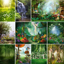 For Studio Backdrop Photography Fairy Tale Forest Photo Background Green 3D