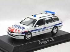 Norev 474654 - 200 Peugeot 406 Break - SMUR - weiß - Modellauto 1:43