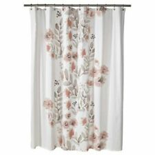 Threshold Coral Blooms Shower Curtain Fabric