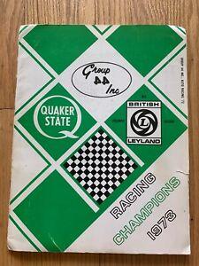 Group 44 Inc Racing Champions 1973 Quaker State/British Leyland Press Book RARE