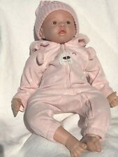Reborn Baby 22inch Pre-owned, cloth and silicone, girl, accessories, clothing