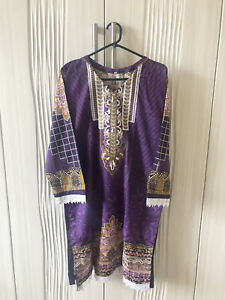 New Khaddar Shawl Purple Asian Eid Clothes Salwar Kameez Pakistani Suit Large
