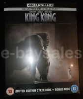 RARE LIMITED EDITION UK STEELBOOK KING KONG 4K UHD ULTRA HD BLURAY BOXSET HDR10
